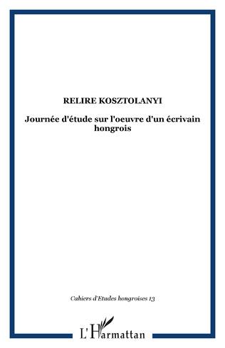 Couverture Relire Kosztolanyi