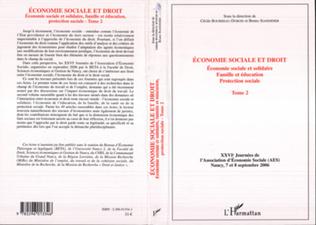 Couverture Economie sociale et droit (Tome 2)