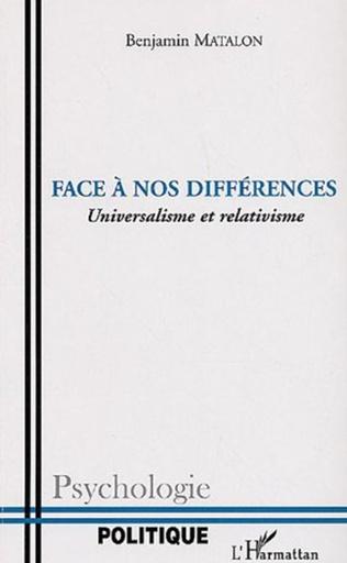 Couverture Face à nos différences