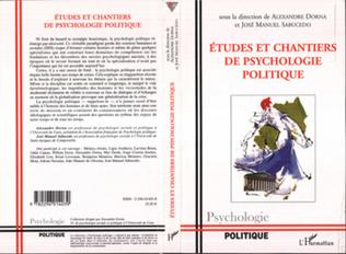 Couverture Etudes et chantiers de psychologie politique