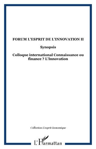 Couverture Forum l'Esprit de l'Innovation II