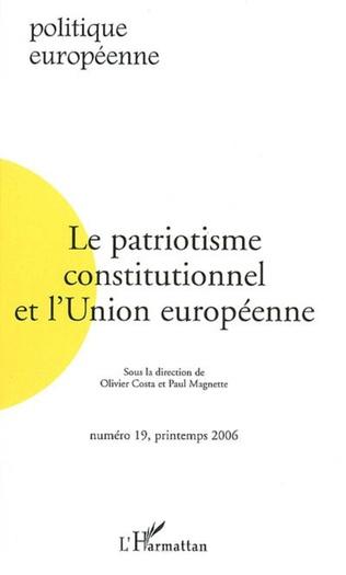 Couverture Le patriotisme constitutionnel et l'Union européenne