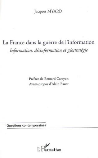 Couverture La France dans la guerre de l'information