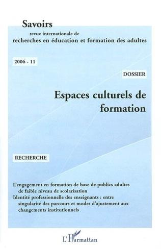 Couverture Espaces culturels de formation