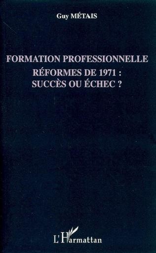 Couverture Formation professionnelle