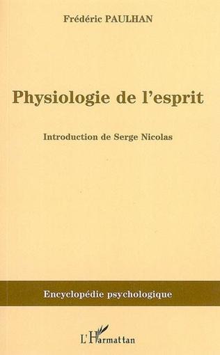 Couverture Physiologie de l'esprit