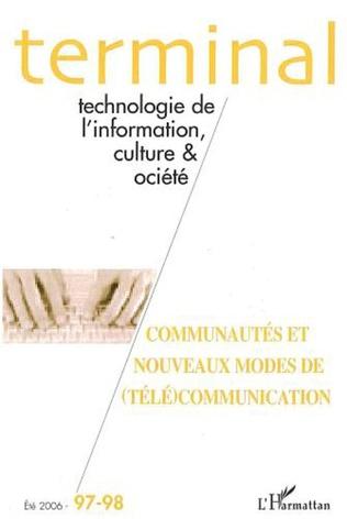 Couverture Communautés et nouveaux modes de (télé)communication