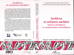 Couverture Archives et sciences sociales