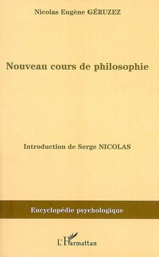 Couverture Nouveau cours de philosophie