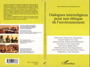 Couverture Dialogues interreligieux pour une éthique de l'environnement