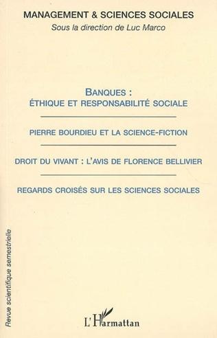 Couverture Banques : éthique et responsabilité sociale