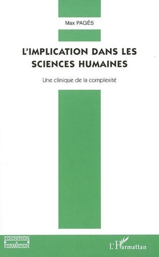 Couverture L'implication dans les sciences humaines