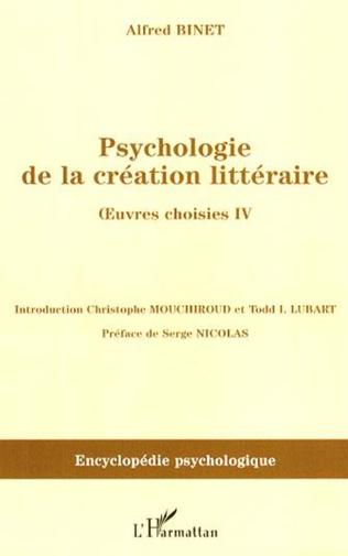 Couverture Psychologie de la création littéraire