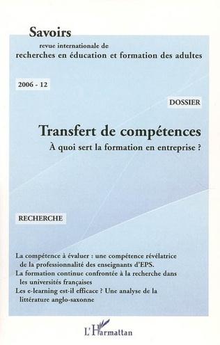Couverture Transfert de compétences
