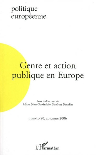 Couverture Genre et action publique en Europe