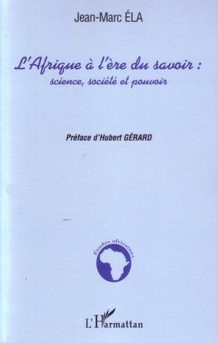 Couverture L'Afrique à l'ère du savoir