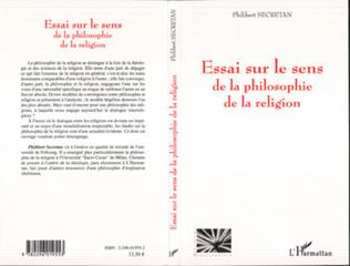 Couverture Essai sur le sens de la philosophie de la religion