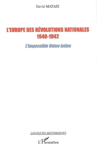 Couverture L'Europe des révolutions nationales