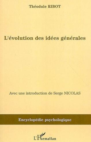 Couverture L'évolution des idées générales