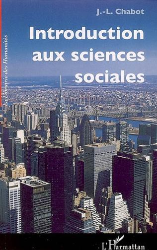 Couverture Introduction aux sciences sociales