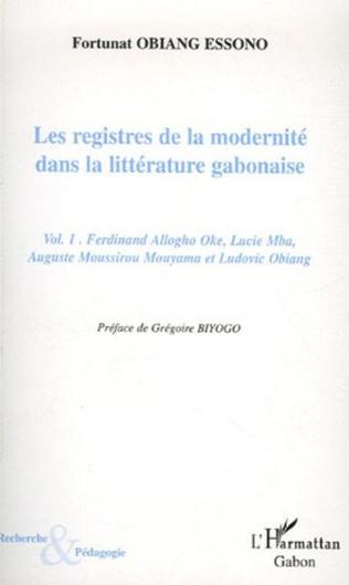Couverture Les registres de la modernité dans la littérature gabonaise