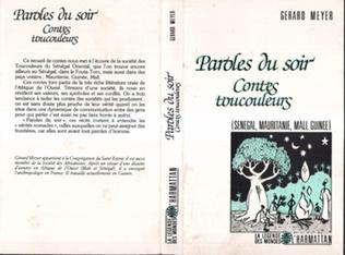 Couverture Paroles du soir, contes Toucouleurs