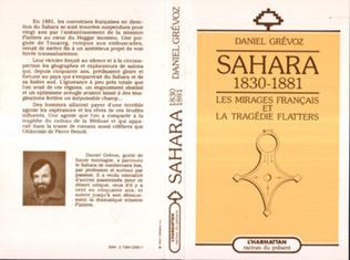 Couverture Sahara 1830-1881: les mirages français et la tragédie Flatters