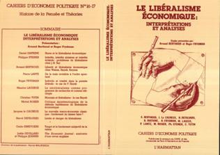 Couverture Le libéralisme économique : interprétations et analyses