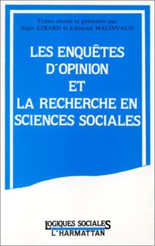 Couverture Les enquêtes d'opinion et la recherche en sciences sociales