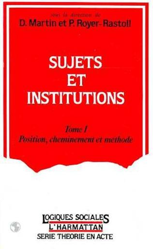 Couverture Sujets et institutions