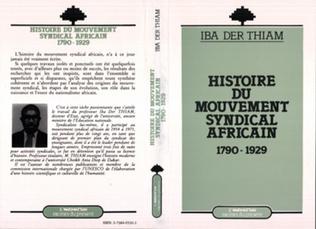 Couverture Histoire du mouvement syndical africain