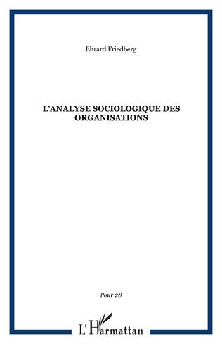 Couverture L'analyse sociologique des organisations