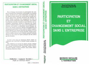 Couverture Participation et changement social dans l'entreprise