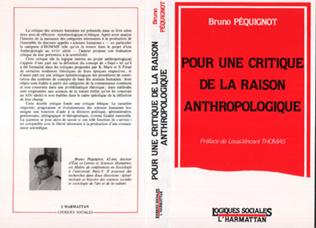 Couverture Pour une critique de la raison anthropologique