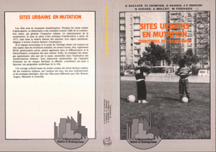 Couverture Sites urbains en mutation