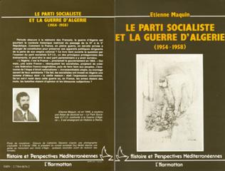 Couverture Le parti socialiste et la guerre d'Algérie