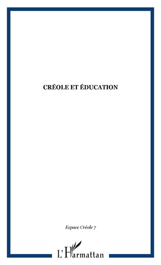 Couverture Créole et éducation