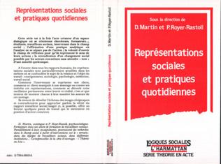 Couverture Représentations sociales et pratiques quotidiennes