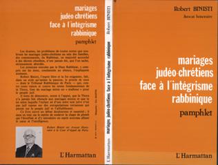 Couverture Mariages judéo-chrétiens face à l'intégrisme rabbinique