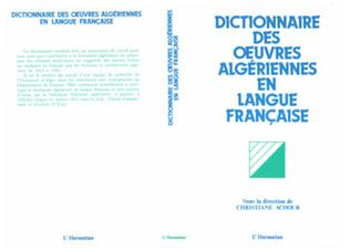 Couverture Dictionnaire des oeuvres algériennes en langue française