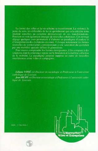 Couverture La ville : vers une nouvelle définition ?