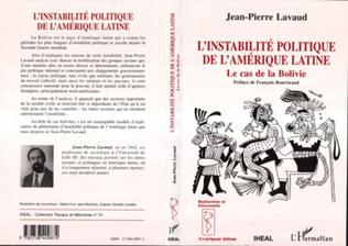Couverture L'instabilité politique de l'Amérique latine