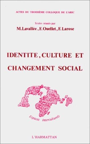 Couverture Identité, culture et changement social