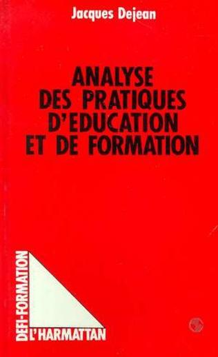 Couverture Analyse des pratiques d'éducation et de formation