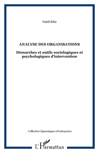 Couverture Analyse des organisations