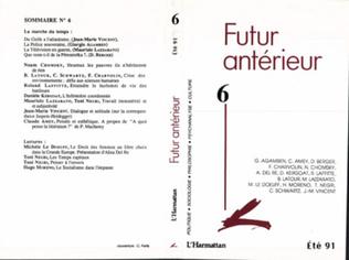 Couverture Futur Antérieur 6
