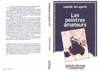 Couverture Les peintres amateurs - Etude sociologique