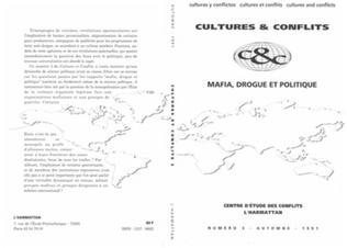 Couverture Mafia, drogue et politique