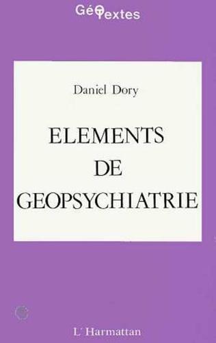 Couverture Eléments de géopsychiatrie