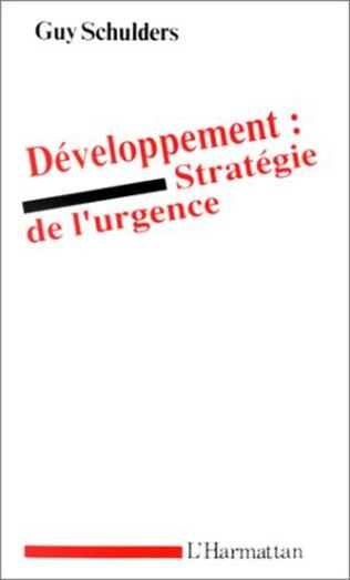 Couverture Développement : stratégie de l'urgence